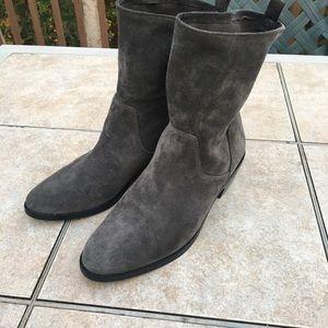 Via Spiga suede leather mid calf flat boots 8.5